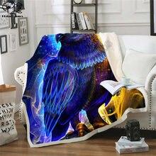 Флисовое одеяло foresight плюшевое 3d принтованное для взрослых