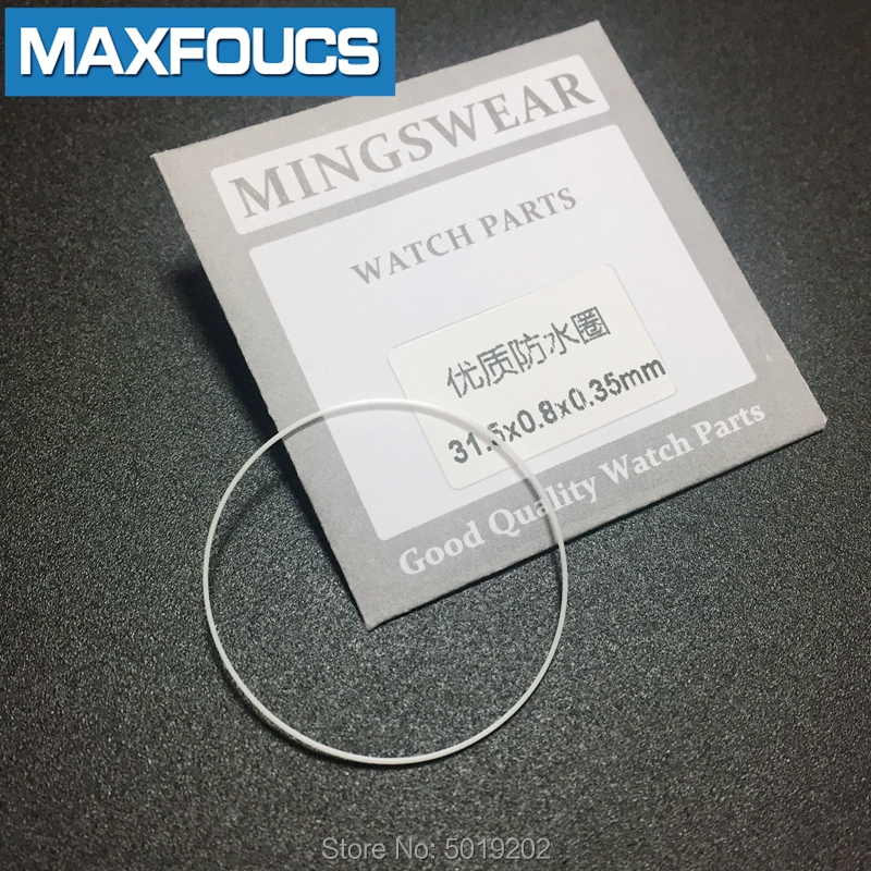 Plastic White Gasket For Crystal Glass Internal Diameter 30-39.5mm Thick  0.35mm Hihg 0.8mm Watch Parts Watch Accessories,1pcs