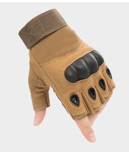 Image 5 - Tactical Gloves Outdoor Sports Moto Ridding Half Finger Military Combat Anti Slip Carbon Fiber Shell Tactical Gloves