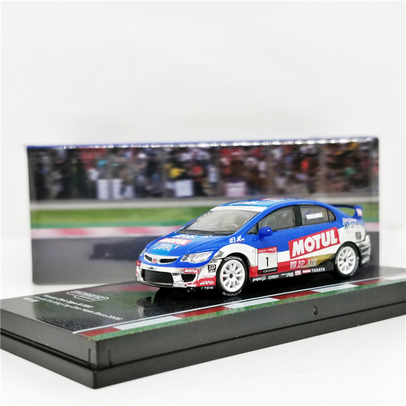 Tarmac Works 1:64 Honda Civic Type R FD2 Cup One Make Race 2008 Malaysia Exclusive Diecast Model Car