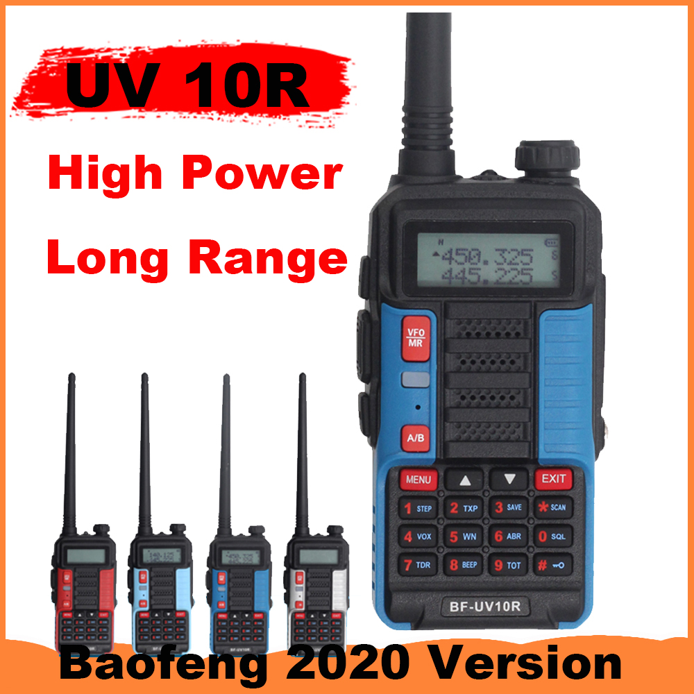 Baofeng Walkie Talkie UV 10R 10W 10km Two Way Radio 128 Channel VHF UHF Dual Band CB Ham Radio UV10R Long Range Better Than UV5R