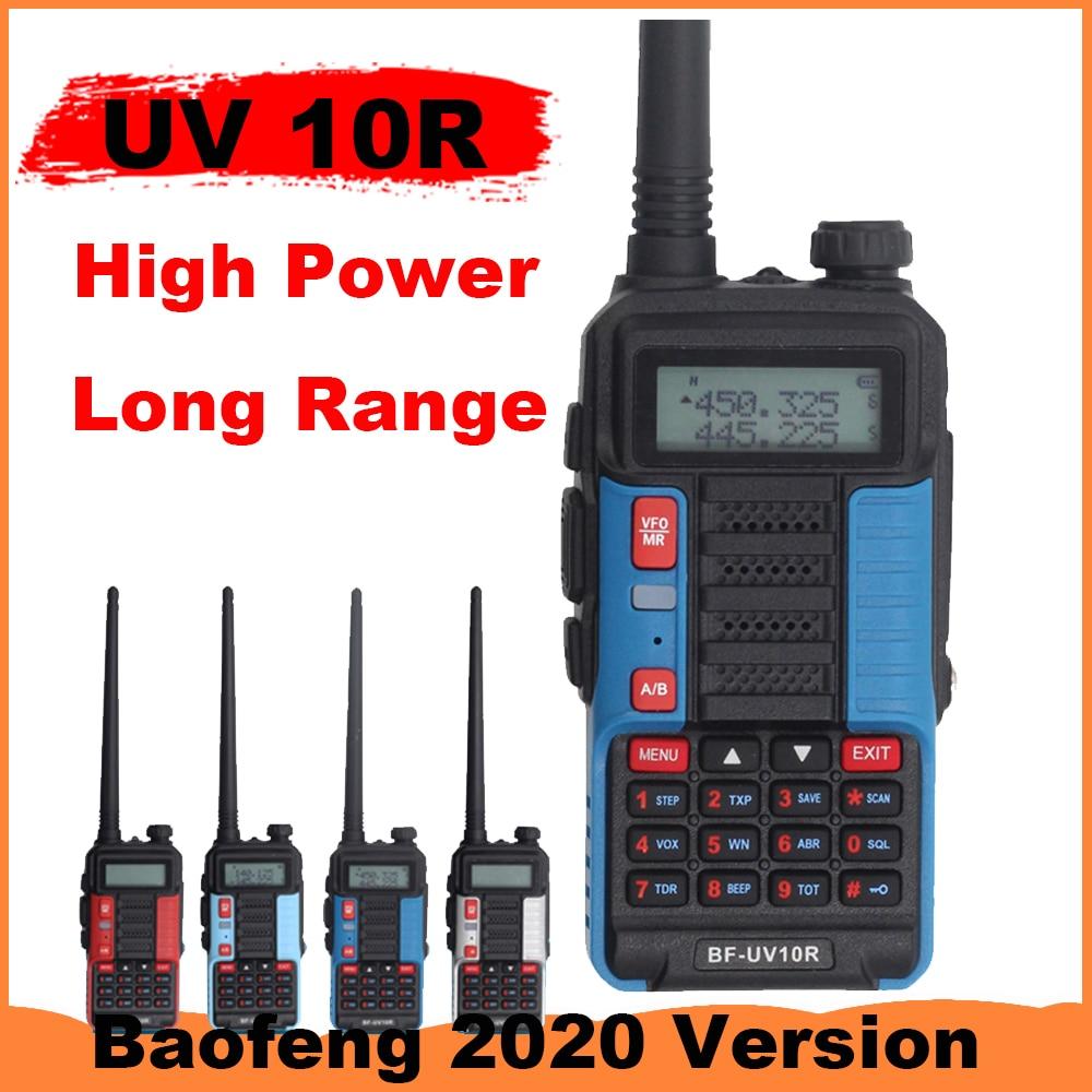 Baofeng Walkie Talkie UV 10R 10W 10km Two Way Radio 128 Channel VHF UHF Dual Band CB Ham Radio UV10R Long Range Better Than UV5R