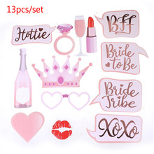 Party-Mask Bride-To-Be Photo-Props Wedding-Decoration 13pcs/Set