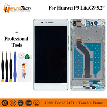 100% Tested LCD +Frame For HUAWEI P9 Lite Lcd Display Screen For HUAWEI P9 Lite Digiziter Assembly 5.2 Inch Screen Free Ship 14 inch ht14x19 100 lcd screen