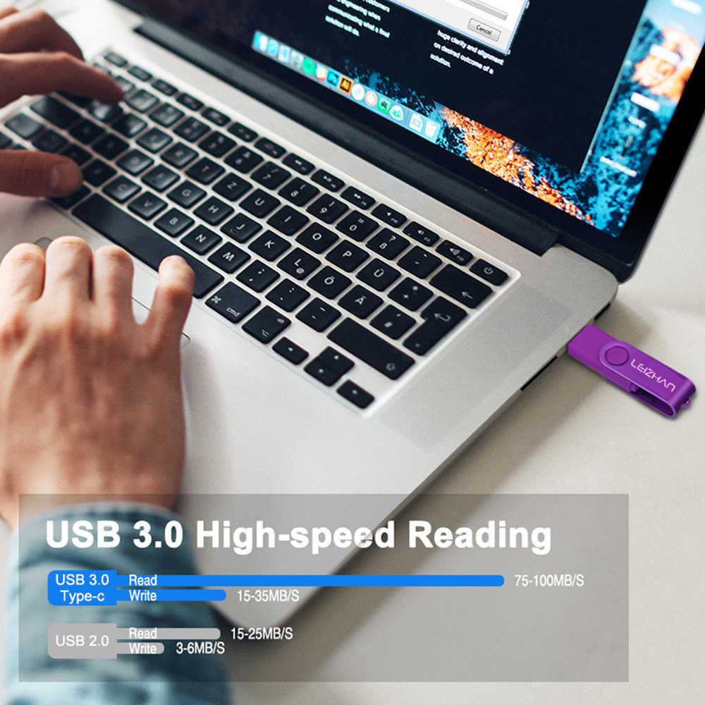חדש גבוהה מהירות Pendrive USB 3.0 דיסק און קי סוג C עט כונן 512 256 128 64 32 16 gb OTG זיכרון תמונה מקל עבור מחשב/טלפון