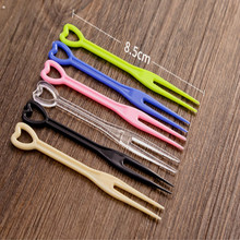 Disposable fork red yellow Transparent Food grade plastic Fruit cake one-time forks  200pcs/lot
