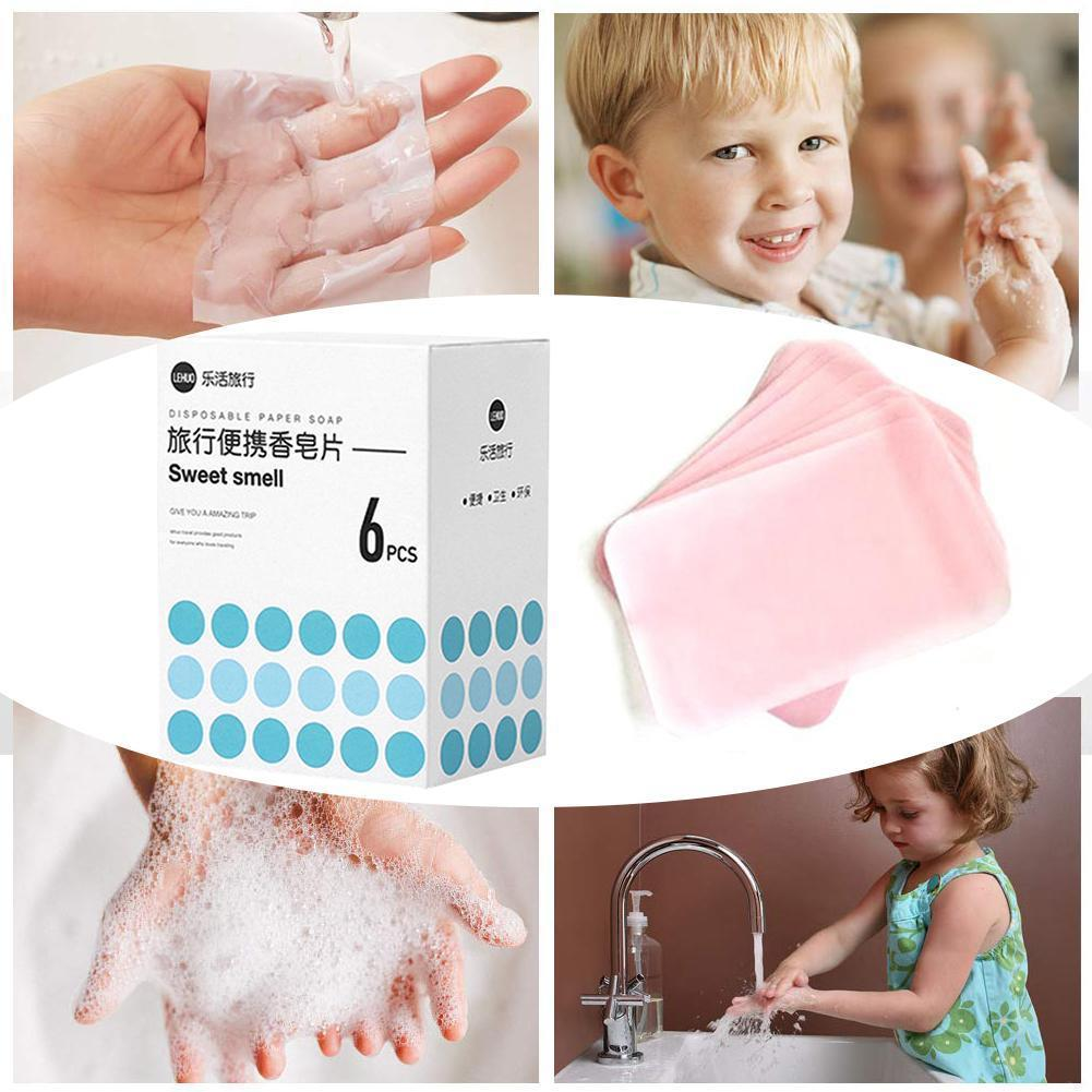 120 Sheets Disinfectant Soap Papers Portable Comfortable Travel Children Mini Outdoor Soap High Paper Effective Home Steril N3P7