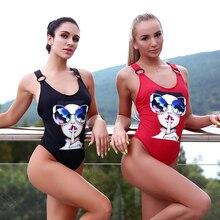 Andzhelika Women New One Piece Sports Swimsuit Summer Swimwear Soft Cup Bodysuit X Shaped Back Swim Suit Bathing Suit Monokini