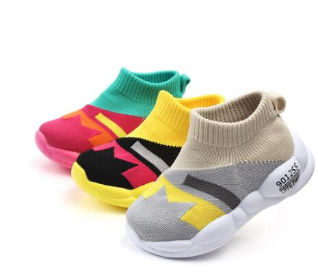 JUSTSL Shoes Fashion Toddler Infant Kids Baby Girls Boys Mesh Soft Sole Sport Shoes Sneakers Anti-slip Baby Shoes Dropship
