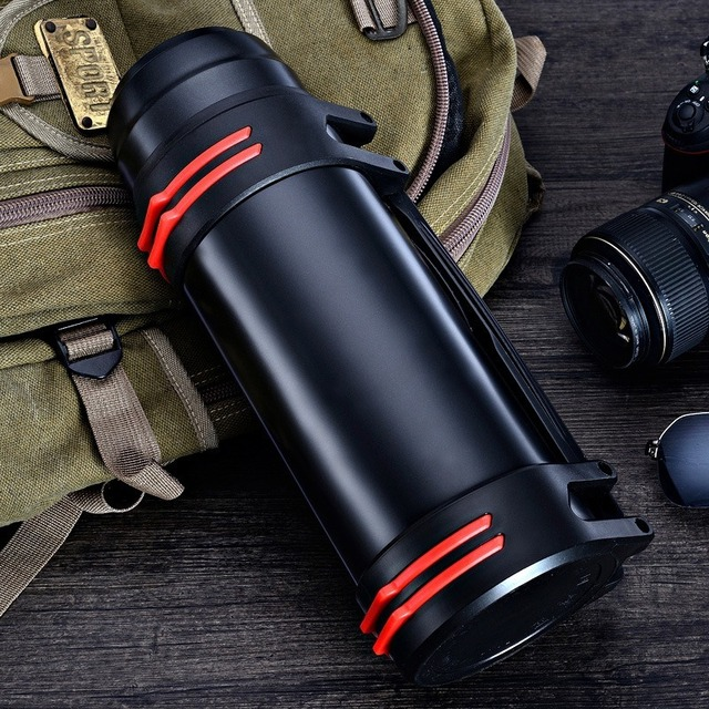 2/3L Outdoor Sports Thermos Water Bottle Large Capacity Stainless Steel Vacuum Flask Portable Travel Home Outdoor Car Thermos