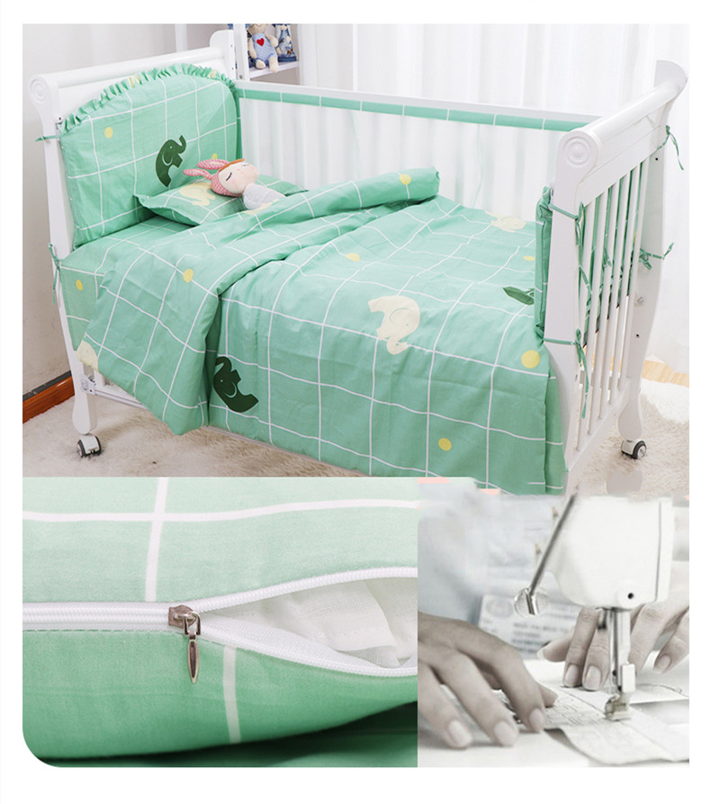 Kids Berço Em Torno de Almofada, protetor de Berço do bebê Travesseiros
