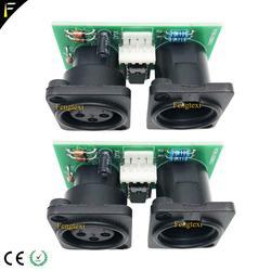 2pcs 7R/5R 200/230 DMX512 Conectar Placa de Sinal Parte Pouco PCB Conector 3pin XLR DMX com Placa de Chip reparação Substituição