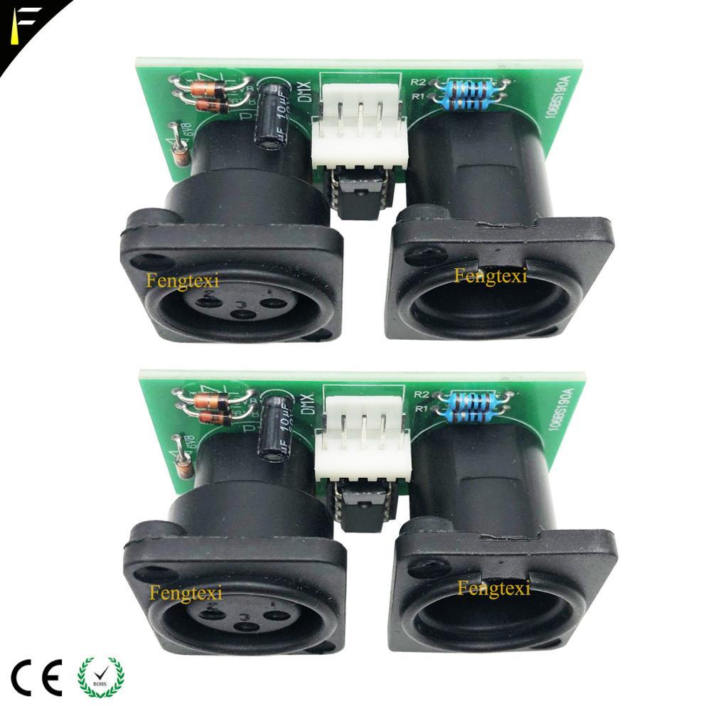 2pcs 7R/5R 200/230 DMX512 신호 연결 보드 부품 작은 PCB 3pin XLR DMX 커넥터 칩 보드 수리 교체무대 조명 영향등 & 조명 -