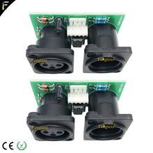 2pcs 7R/5R 200/230 DMX512 Segnale Collegare Parte di Bordo Piccolo PCB 3pin XLR Connettore DMX con il Circuito Integrato Bordo riparazione di Ricambio