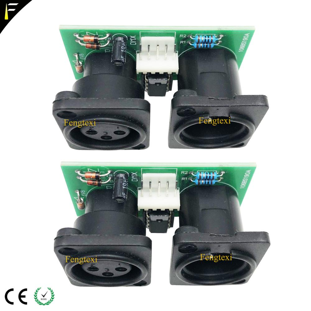 2pcs 7R/5R 200/230 DMX512 Signal Connect Board Part Little PCB 3pin XLR DMX Connector With Chip Board Repair Replacement