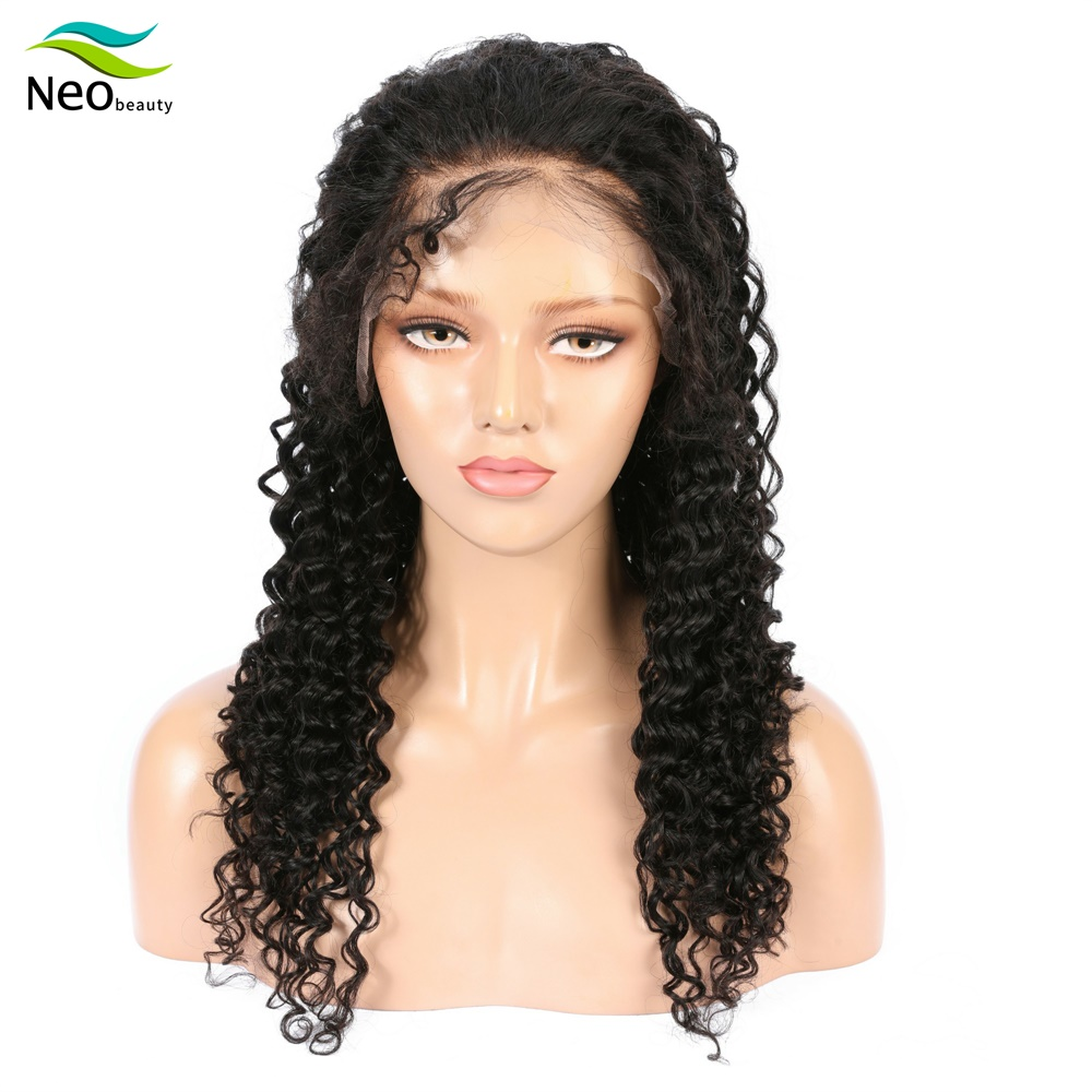 13x4 Lace Front Human Hair Wigs For Black Women Brazilian Virgin Hair Super Natural Soft Deep Wave Wig For Women Hair Party
