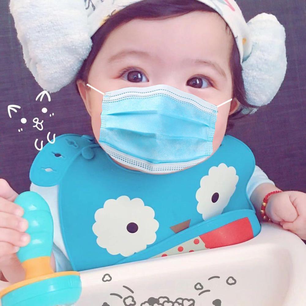 50pcs Disposable Coronavirus Anti Facial Corona Dental air pollution Virus Filter Dust Masks Black Kids Mouth Face Mask 5