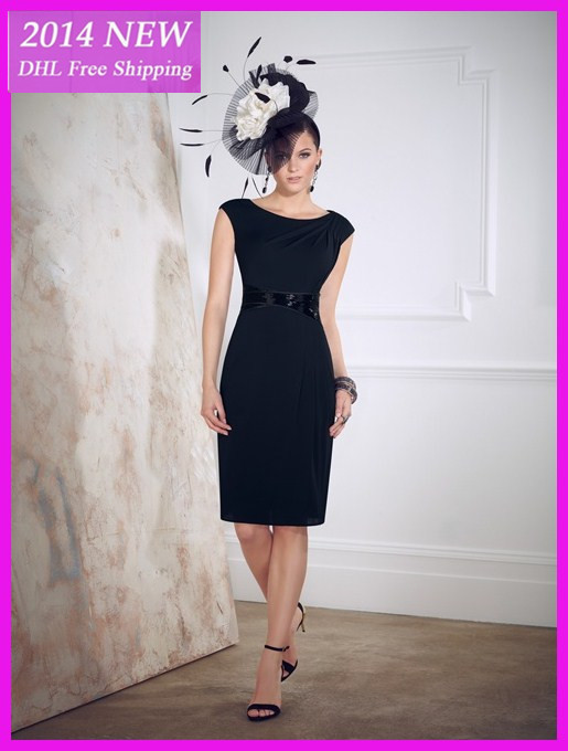 2019 New Style High Quality Fashion Sheath Knee Length Scoop Chiffon Plus Size Mother Of The Bride Dresses Custom