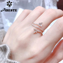 ANI 18K White Gold (AU750) Wedding Ring Gold Rings anillos mujer Butterfly Design Real Natural Diamond Ring for Women Birthday