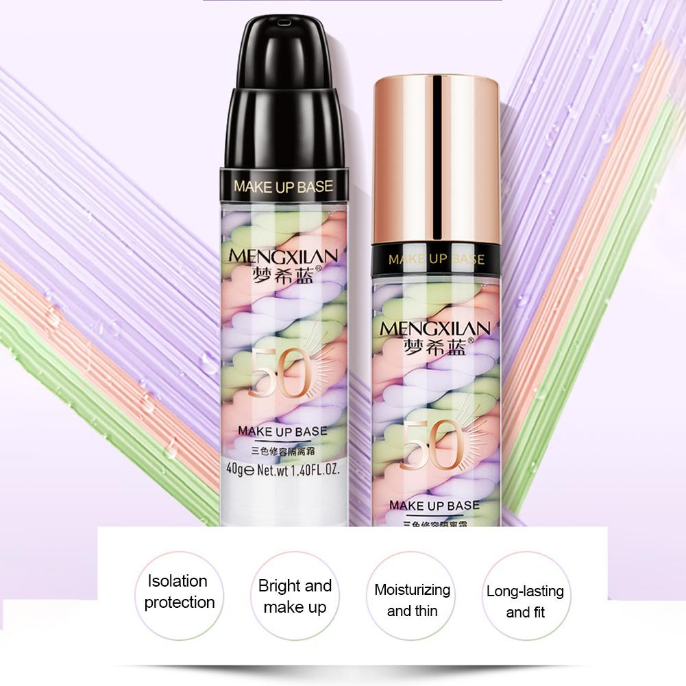 Three-color Mixed Insulation Lotion To Fill Skin Pores Glow Foundation Primer Liquid Makeup Concealer Foundation 40g