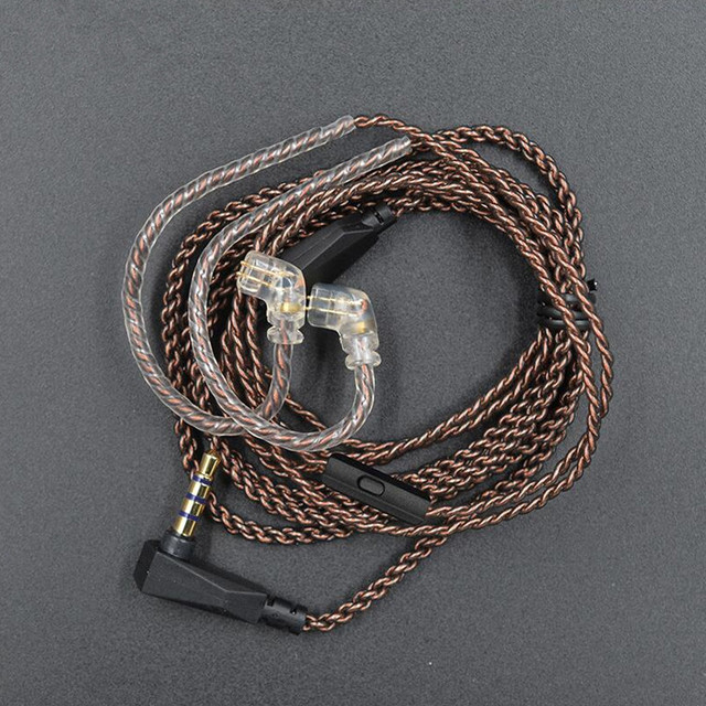 חדש KZ לZST ZSN ZS10 פרו ZS3 ZS6 AS16 AS12 ZSN פרו אוזניות עם Micrphone כבל 2PIN פין שדרוג כבל אוזניות חוט עם מיקרופון