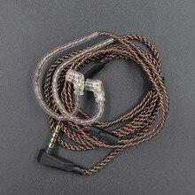 Neue KZ ZST ZSN ZS10 pro ZS3 ZS6 AS16 AS12 ZSN Pro Kopfhörer Mit Micrphone kabel 2PIN pin upgrade kabel kopfhörer draht mit mic