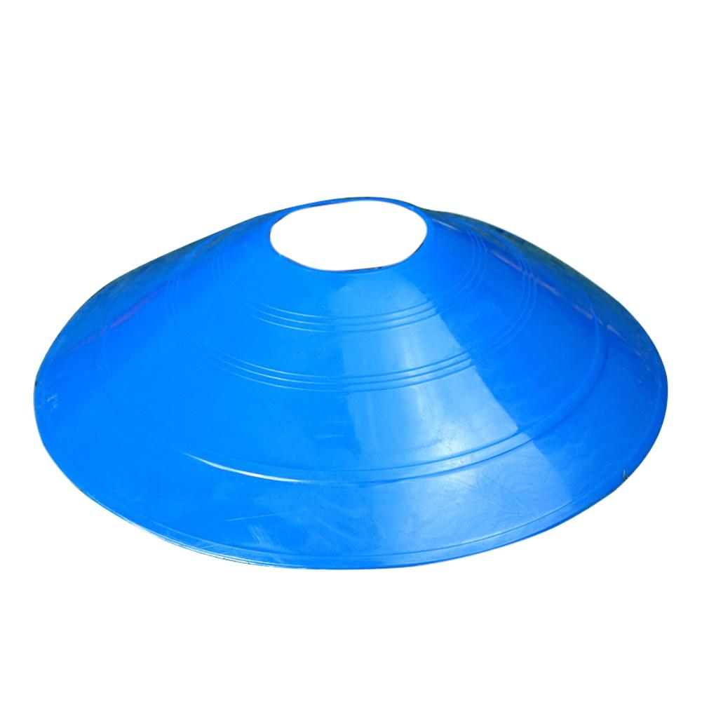 10 Pcs Soccer Training Sign Flat Pressure Resistant Cones Marker Discs Barrier Accessories ZJ55