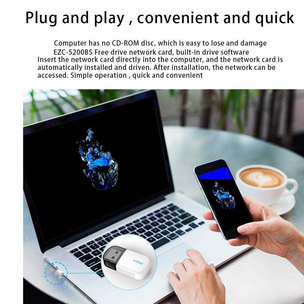 デュアルバンド 300 150mbps のワイヤレス Usb 無線 Lan アダプタ 2.4 グラム/5 Ghz のワイヤレス Wifi 受信機 LAN ネットワークカードアダプタ