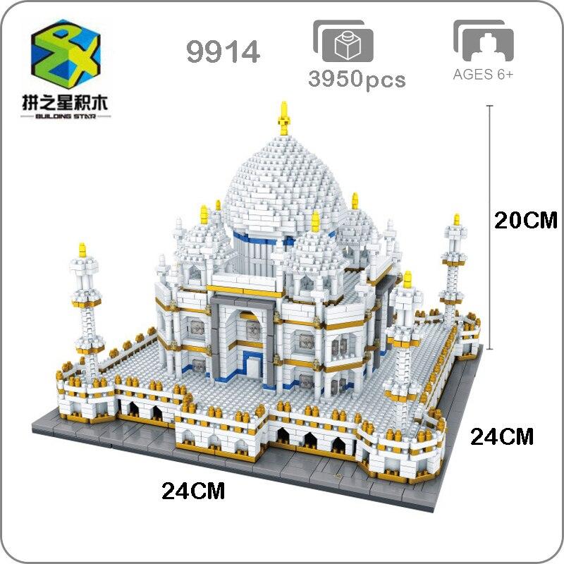 Building Star World Architecture Taj Mahal Palace 3D Modle DIY Mini Small Blocks Bricks Diamond Building Toy for Children no Box