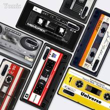 Retro Side Old Style Tape Cassette Black Cases for Samsung Galaxy Note 10 5G 9 8 M40 M30 M20 S10 Plus A50 A70 Silicone Phone Cov