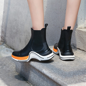 Image 5 - MORAZORA 2020 top quality genuine leather shoes woman ankle boots round toe autumn winter boots comfortable casual shoes woman
