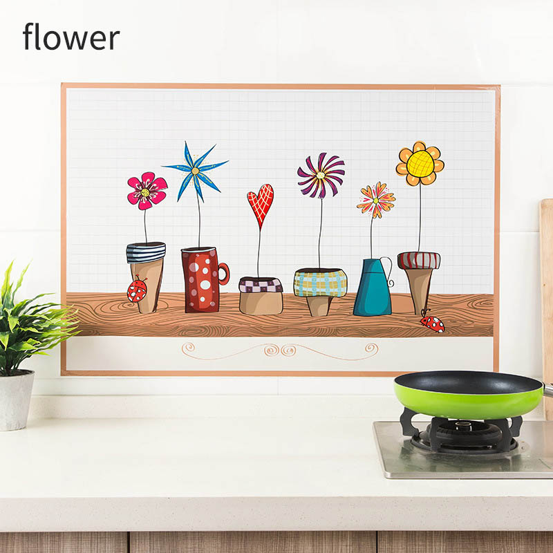 Oven Dining Hall Wallpapers Oil Proof Wall Stickers Heat Resistant Kitchen Decor Self Adhesive Waterproof Wall Art Decal 1pcs In Wall Stickers From