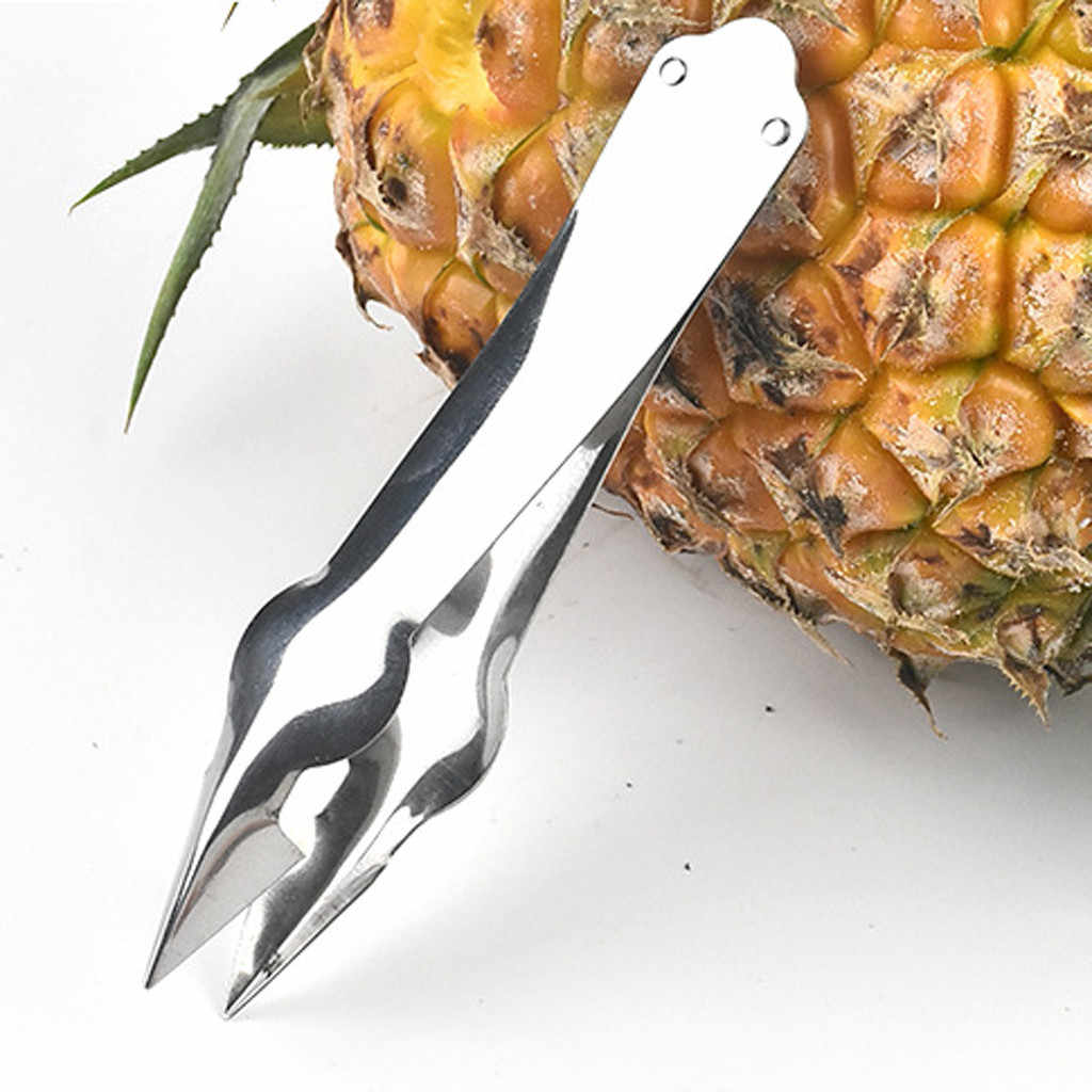 Fruit and vegetable tools stainless steel pineapple eye peeler kitchen stainless steel descaler cutting clip L0802