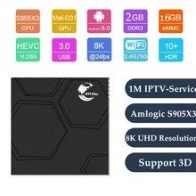 OTT PLUS TV Box Android 9.0 Built in 2.4G /5G/BT 4.0 H.265 4