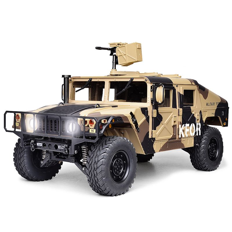 HG P408 Standard 1/10 2.4Ghz RC Car 4WD Military Crawler Remote Control RC Vehicle High Speed Radio Control Car in Camouflage