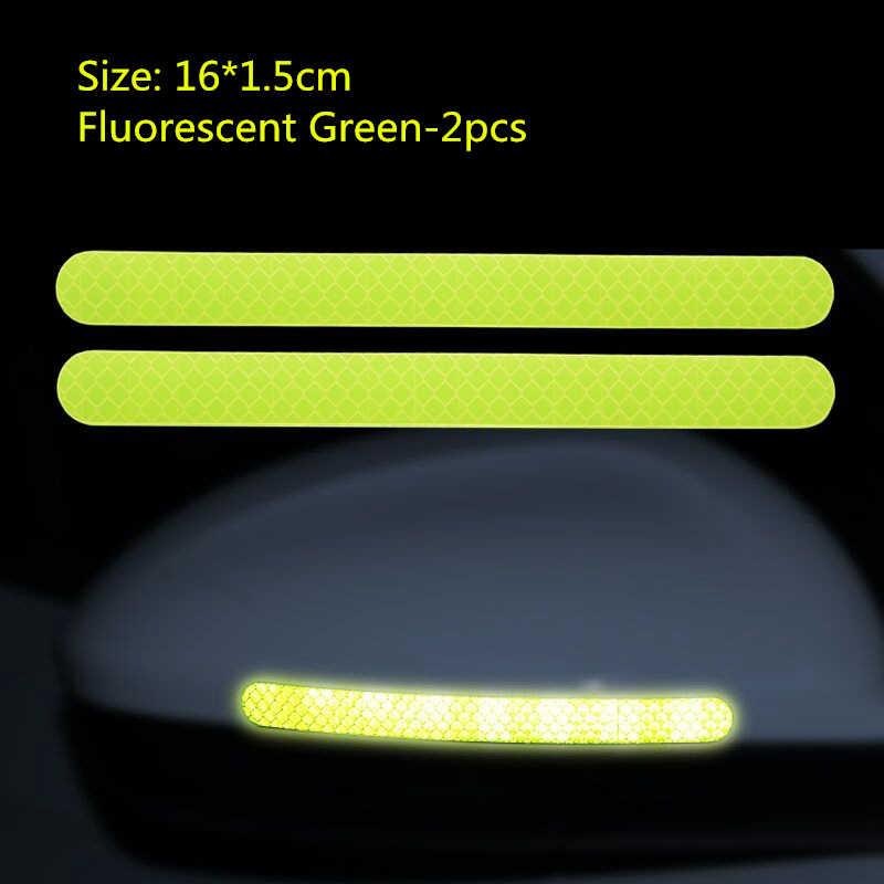 2 adet Reflectante araba çıkartmaları reflektör dikiz aynası yansıtıcı bant araba aksesuarları dış refleks bant yansıtıcı şerit