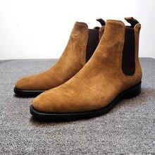 Winter Shoes Chelsea-Boots Suede Male Botas-De-Hombre High-Quality Warm Ankle Men