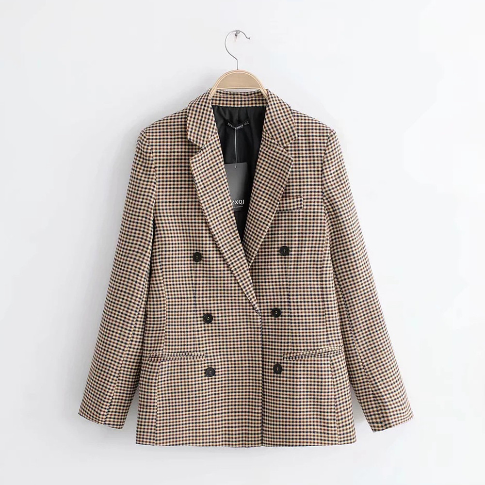 SAGACE Women's Retro Single-breasted Long-sleeved Children's Shoulder Pad Suit Suit Collar Jacket All-match Chic Women Suit
