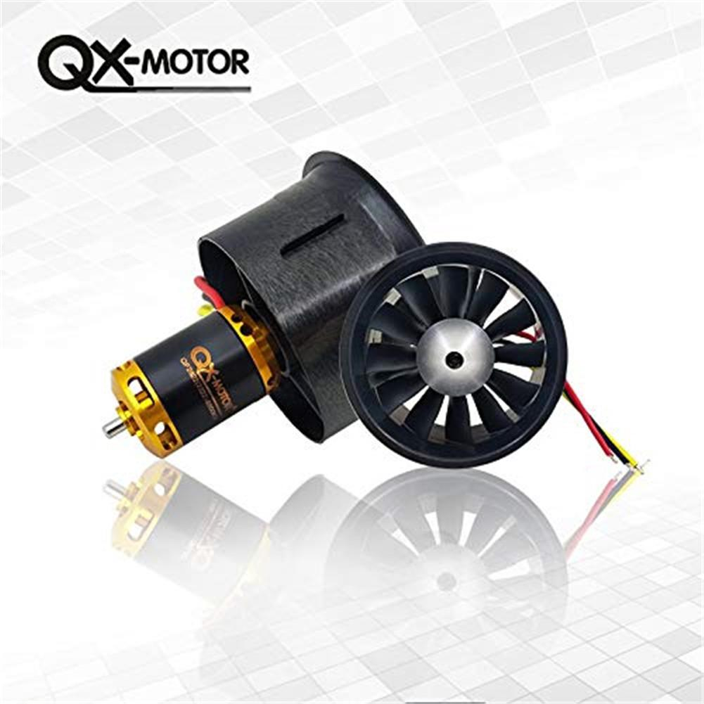 Hobbylane QX-Motor New 64mm EDF 12 Leaf Set QF2822-4300kv 3s Upgrade Section Edf 64mm Ducted Fan