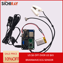 цена на Brainwave EEG sensor TGAM Technology heart rate monitor module Zigbee wireless communication EEG/ECG acquisition board