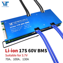 17S BMS 60V 3.7V lithium battery protection board temperature equalization overcurrent protection PCB 70A 100A 130A