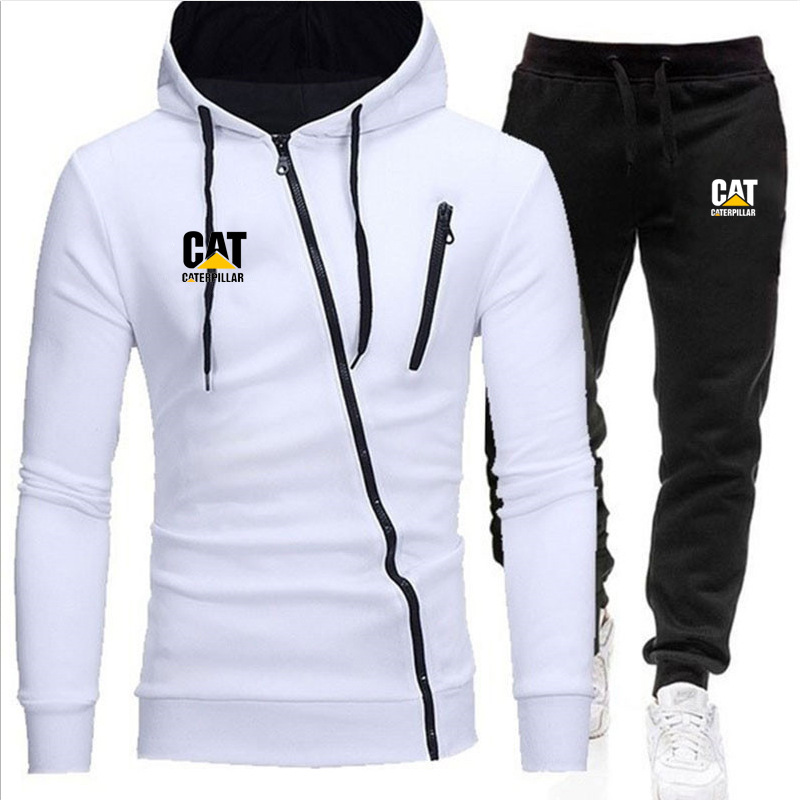 2020 Men's Tracksuits Spring Sportswear Men Set Outwear Hoodie + Sweatpants 2 Pieces Sets Pattern Plus Size 4XL Fitness Clothing