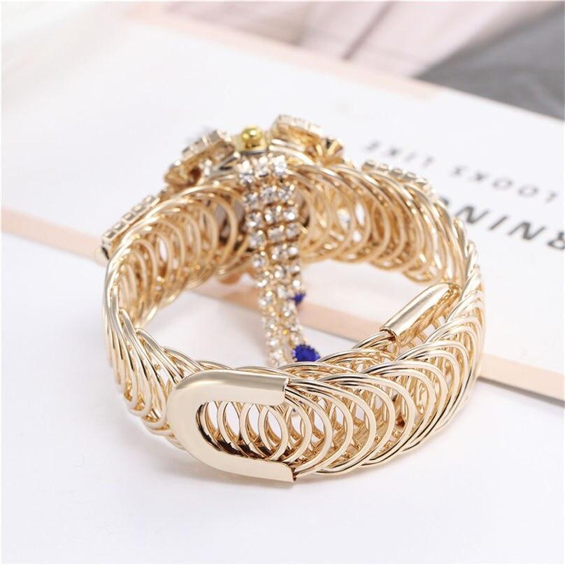 Khorasan Luxury Alloy Fashion Casual Women Watch Creative Fringe Quartz Bracelet Watches 3D13 (3)