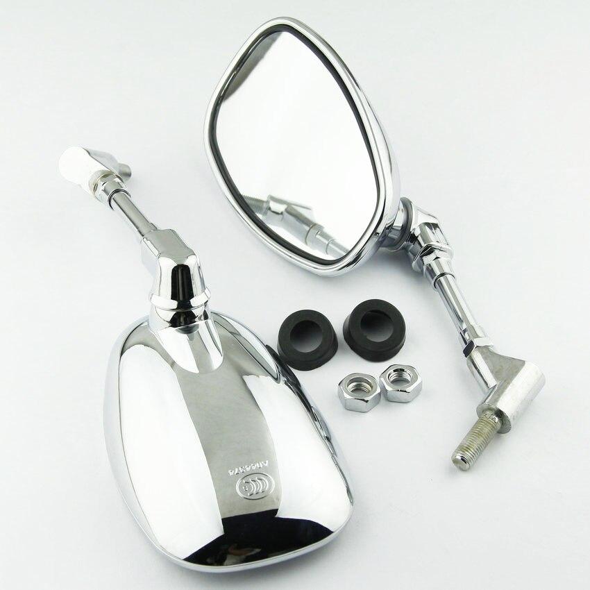 2pcs 10mm motorcycle rearview mirror for Yamaha FZ6 MT 03 VMAX12 VMX12 VMX17 V MAX BT1100 XJR400 XJR1200 XJR1300