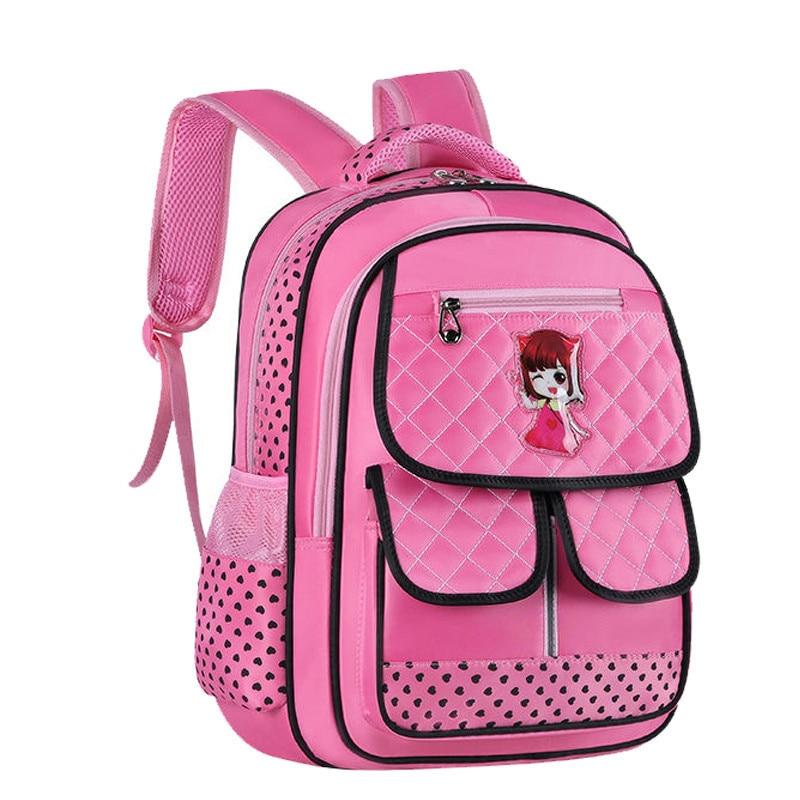 Children School Bags Girls Primary School Backpack Princess Orthopedic Schoolbag Large Capacity Waterproof Bookbag Grades 1-3-6