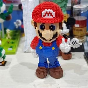 Image 3 - Balody construcción de edificios de dibujos animados para niños, minibloques, Bowser, juguetes, Mario, Yoshi, bloques de modelismo, Wario, Anime, Brinquedos, regalos, 16022