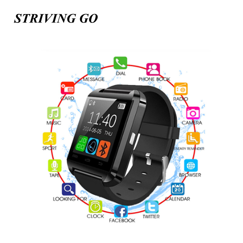 2020 New Stylish U8 Bluetooth Smart Watch For IPhone IOS Android Watches Wear Clock Wearable Device Smartwatch PK Easy To Wear