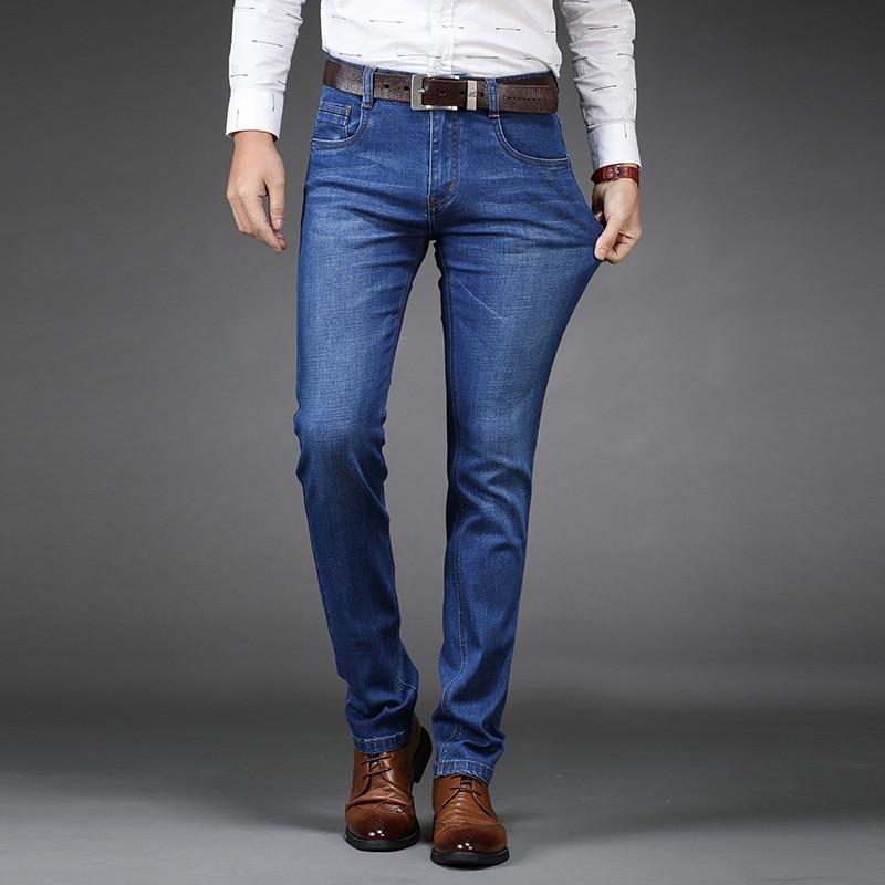Spring And Autumn New Style Elasticity Pencil Pants Jeans Young MEN'S Business Slim Fit Medium Waist Casual Men'S Wear Men Long