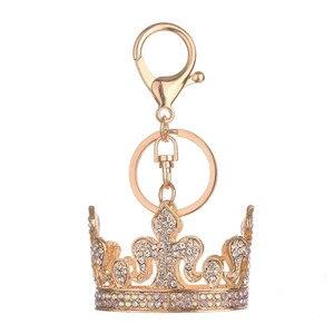 crown keychain cute key ring for women creative key chain key holder portachiavi bag charm chaveiro llaveros crown pendant @3(China)