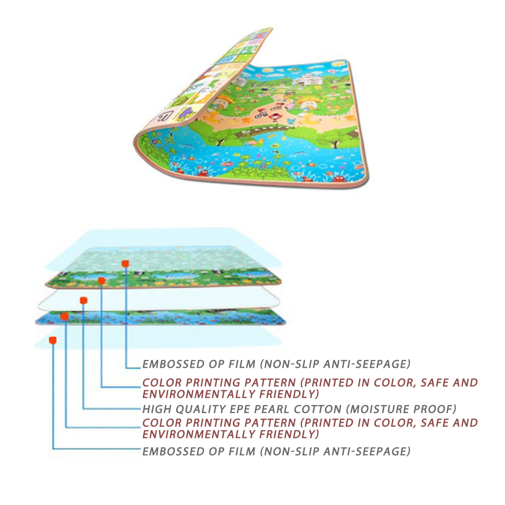 Baby Play Mat 0 5cm Thick Foldable Crawling Mat Double Surface Baby Carpet Rug Cartoon Game Baby Play Mat 0.5cm Thick Foldable Crawling Mat Double Surface Baby Carpet Rug Cartoon Game Playmat Developing Mat for Children